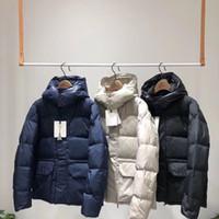 ingrosso cappotti invernali america-18FW Europa America breve piumini con cappuccio casual inverno caldo addensare pane giù cappotto moda strada antivento capispalla HFTTYRF013