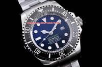 мужские часы оптовых-Лучший выпуск AR Factory Top 904L Steel Swiss CAL.3135 механизм 44 мм Sea-Dweller 116660 D-синий керамический безель автоматические мужские часы