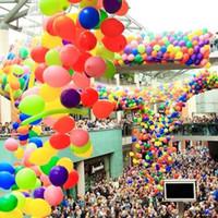 ingrosso palloncini per matrimoni-200pcs formato Balloon Drop Net uso con palloncini tondi da 10 pollici Grande per centrotavola e foto Puntelli Compleanni matrimoni haif