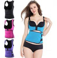 Wholesale Wholesale Sweat Vest - New Body Shaper Vest Slimming Waist Trainer Hot Shaper Fashion Workout Shapewear Adjustable Sweat Belt Corset