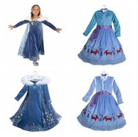 Wholesale Cosplay Costumes Open - Baby Girls Winter Tutu Dresses Christmas Party Cosplay Costume Princess Snowflake Evening Dress Cloak Tassel Dresses Open to booking