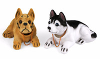Wholesale auto car interior decoration online - Car Ornament Shaking Dog Nodding Puppy Doll Cute Auto Dashboard Interior Decoration Shakes Head Bobblehead Dog Home Furnishings