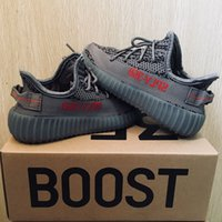 Wholesale cute purple baby shoes online - Cute Baby Kids Shoes Kanye West SPLY Boost V2 Zebra Running Shoes Children Athletic Shoes Beluga Sports Sneaker Grey Red