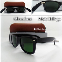 Wholesale Clear Coat Scratch - AAAA+ Quality Metal Hinge Glass Lens Plank Hinge Frame Brand Designer Fashion Men Women Sunglasses Vintage Coating Sun Glasses Eyewear Box