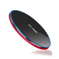 qi charger à vendre achat en gros de-Quatre couleurs Chargeur rapide Chargeur sans fil Qi Recharge S6 Edge s7 bord s8 plus vente tampon de haute efficacité Fantasy