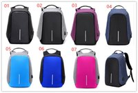 Wholesale Womens School Shoulder Bags - Mens Students Anti-theft Laptop Notebook Backpack With USB Charging Port oxford fabric womens School travel shoulder bag has USB cable MPB26