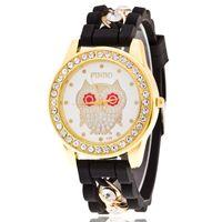 Wholesale owl dress blue online - New Fashion Brand Geneva Casual Quartz Watch Women Crystal Owl Pattern Watches Relogio Feminino Ladies Dress Wrist Watch