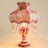 mesas de lâmpada roxa venda por atacado-OOVOV Roxo Meninas Quarto Candeeiro De Mesa Criativo Romântico Quarto Cabeceiras Mesa de Luz Sala de estar Lâmpadas de Mesa