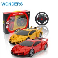Wholesale Gravity Wheels - 1:24 4 Channels steering wheel Electric Toy RC Car Gravity Sensing Remote Control Automobile Racing Car Toys High Speed Model