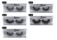 Wholesale wing lashes - 2018 11 styles Selling 1pair lot 100% Real Siberian 3D Mink Full Strip False Eyelash Long Individual Eyelashes Mink Lashes Extension