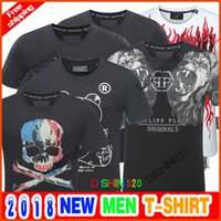 Wholesale high end t shirts - 2018 New Skull brand German P Men shirt Best quality Italy high-end designer clothing shape perfect Asian Medusa men's T-shirt code