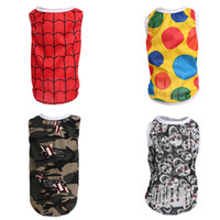 Wholesale designed male clothing for sale - Popular Breathable Quick Dry Puppy Vest For Spring Autumn Wear Dog Apparel Casual Multi Design Dog Colorful Clothes dc Z