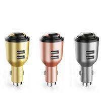 зарядное устройство для автомобильных телефонов оптовых-Горячая IVLWE 3 в 1 двойной USB смарт автомобильное зарядное устройство беспроводной Bluetooth 4.1 наушники гарнитура аварийный Безопасный молоток встроенный микрофон для мобильного телефона