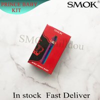 ingrosso penne bambino-Kit originale SMOK Stick Prince Baby Starter Kit 2000mAh 4.5ml TFV12 Kit regalo Baby Prince Tank Atomizer Vape 100% Authentic SmokTech