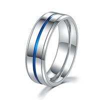 Wholesale rings range resale online - Titanium Steel Ring Jewelry Street Ethnic Style MM Men s Ring Range Blue