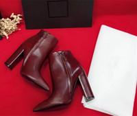 Wholesale womens chunky heel dress shoes resale online - 2018 new Women Designer Shoes Ladies High Heel Booties Luxury Designer Women Shoes Designer Women Heels Shoes Superstar Womens Dress Shoe