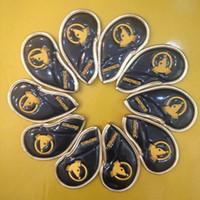 eisen limitierte auflage großhandel-Limited Edition Stickerei Honma Beres Golf Irons Club Headcover Set Gold Gehobenen Kristall PU Golf Head Cover für Eisen 5-11PSA 10 STÜCKE 2 Farben