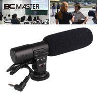 Wholesale dslr pro resale online - BCMaster Portable Wired Pro Video Shotgun Stereo Recording Microphone Mic for DSLR Camcorder Camera mm Jack