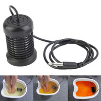 Wholesale array ion detox foot spa for sale - Group buy Hot Detox Foot Bath Arrays Round Stainless Steel Array Aqua Spa Foot Massage Relief Tool Ionic Cleanse Ion