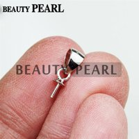 Wholesale 50 Pieces Sterling Silver Bail Jewelry Findings Half Drilled Beads Bail Bead Cap Drop Ice Pick Bails