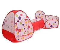 Wholesale pop tunnel - DANCHEL Outdoor Foldable Kids Toddler Pop Up Play Tent and Tunnel For Children