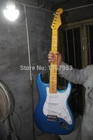 Wholesale Stratocaster Electric - Factory custom shop 2015 Newest Custom Vintage blue ST electric guitar Free shipping (HAI 4 stratocaster