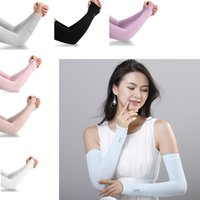 Wholesale outdoor sun covers - Summer Cooling Sleeves Unisex Sports Sun Block Anti UV Protection Sleeves Driving Arm Sleeve Cooling Sleeve Covers Outdoor 2pcs pair