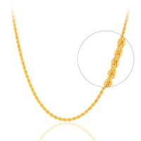 collar de cadena de oro puro de 18k. al por mayor-RINYIN Joyería Fina Genuino Collar de Oro Amarillo de 18K Puro AU750 Twisted Singapore Chain 16