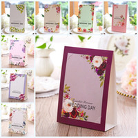 Wholesale popular wedding gifts online - Originality Wedding Cake Toppers Personality Print Table Card Souvenir Supplies Favors And Party Gifts Place Cards Popular mh jj