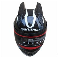 Wholesale dot racing helmets resale online - Malushun Motorcycle helmet full face helmet casque moto casco professional rally racing with corn Dot approved
