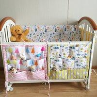 Sonnig Cartoon Zimmer Kindergarten Hängende Lagerung Tasche Babybett Bett Krippe Organizer Spielzeug Windel Tasche Für Neugeborenen Krippe Bettwäsche Set Baby Bettwäsche Bettwäsche-sets