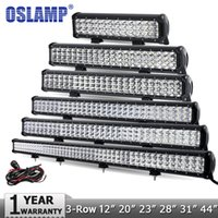 "Wholesale 28 led light bar - Oslamp 4"" 7"" 12"" 20"" 23"" 28"" 31"" 44"" 3-Row LED Light Bar Offroad Combo Led Work Light Bar 12v 24v Truck SUV ATV 4WD 4x4"