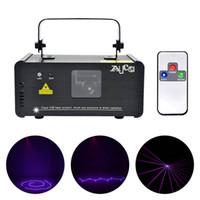 party-scanner beleuchtung großhandel-Mini Tragbare IR Fernbedienung 8 CH DMX Lila 150 mW Laserscanner Bühnenbeleuchtung PRO DJ Party LED Show Projektor Lichter
