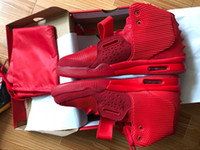 Wholesale kanye west red octobers for sale - Kanye West SP Red October Sports Shoes Original Packages With Dust Bag Mens Sneakers Kanye West II Glow Dark Outdoor Athletic