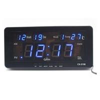 alarme de data venda por atacado-Despertador eletrônico do calendário do diodo emissor de luz de Digitas com data e semana da temperatura Mesa ou montagem da parede para a prateleira do estudo da sala de visitas
