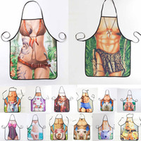 Wholesale Cleaning Sexy - 1Pcs Fashion Sexy Man Women Printed Apron Bibs Home Cooking Baking Party Funny Cleaning Aprons Kitchen Accessories 46094