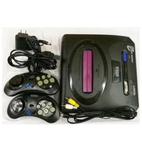 Wholesale wholesale console wifi - Sega Genesis MD compact 2 in 1 dual system game console catridge rom support original game card high quality DHL Free OTH906