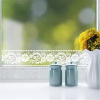 Selbstklebende Tapete Für Küche Großhandel Großhandel 10 Mt Weiß Spitze  Taille Linie Wandaufkleber Für Glasfenster