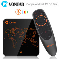 Wholesale android tv box play store online - Google Voice Control Android TV OS Box Amlogic S905W GB GB Streaming Box Support Google Play Store Netflix Youtube