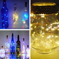 botella de vino de corcho al por mayor-1 M 9 lámpara de color de corcho en forma de tapón de la botella de luz de vino de vino LED luces de la secuencia del alambre de cobre para la fiesta de Navidad de boda de Halloween 100 unids T1I1026