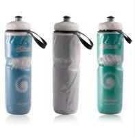 wasser fahrrad verkauf großhandel-710 ml Tragbare Outdoor Isolierte Wasserflasche Fahrrad Radfahren Sport Wasser Tasse Wasserkocher Recyclebar Flasche 24 unze Heißer Verkauf