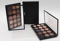 nötr paleti toptan satış-SıCAK Yeni Makyaj Göz Farı * 15 serin / sıcak nötr Palet 15 renk Göz Farı Ücretsiz kargo