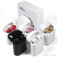 cosses à air achat en gros de-TWS Bluetoot Core i7 écouteurs sans fil avec chargeur Boîte pas l'air pods Casque pour iPhone X 8 7 plus Android Samsung Sony Casque PK AirPod
