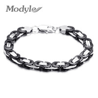 Wholesale steel bike chain bracelet for sale - Group buy Modyle High Quality Motorcycle Chain Bracelet For Women Black Gold Color L Stainless Steel Bike Chain Bracelet
