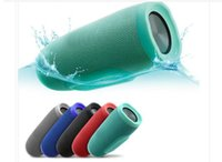 Wholesale Sound Speakers Mp3 - Hot Charge 3 Bluetooth Speaker Portable Wireless Speakers Outdoor Waterproof Subwoofer Powerbank 1200mAh Battery Charge3 In Stock DHL