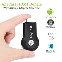 ios android için mirakast dongle toptan satış-AnyCast M2 M3 M4 Plus Wifi iPush Display TV Dongle Receiver 1080P Airmirror DLNA Airplay Miracast HDMI Android iOS TV Stick for HDTV