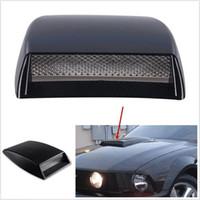 Wholesale bonnet air vents cover resale online - Black Intake Hood Net Scoop Bonnet Vent Black Car Vehicle Air Flow Cover Decorative