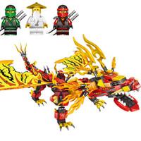 jouets chevaliers achat en gros de-750 Pcs Nouveau Ninjagoe Phantom Golden Mecha Dragon Knight Série Blocs de Construction Compatible Legoings Briques Modèle Jouets pour Enfants