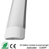 tubo de luces led soporte al por mayor-Nuevo estilo. Luz led de triple prueba Tubo LED enlazable Luz lineal LED 4 pies 1200 mm 36W 110v 220v Lámpara de soporte
