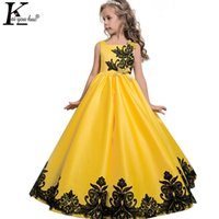 Wholesale Dresses For Teenagers - 2017 New Christmas Dress Kids Dresses For Girls Clothes Teenagers Princess Wedding Dress Vestidos 5 6 7 8 9 10 11 12 13 14 Years